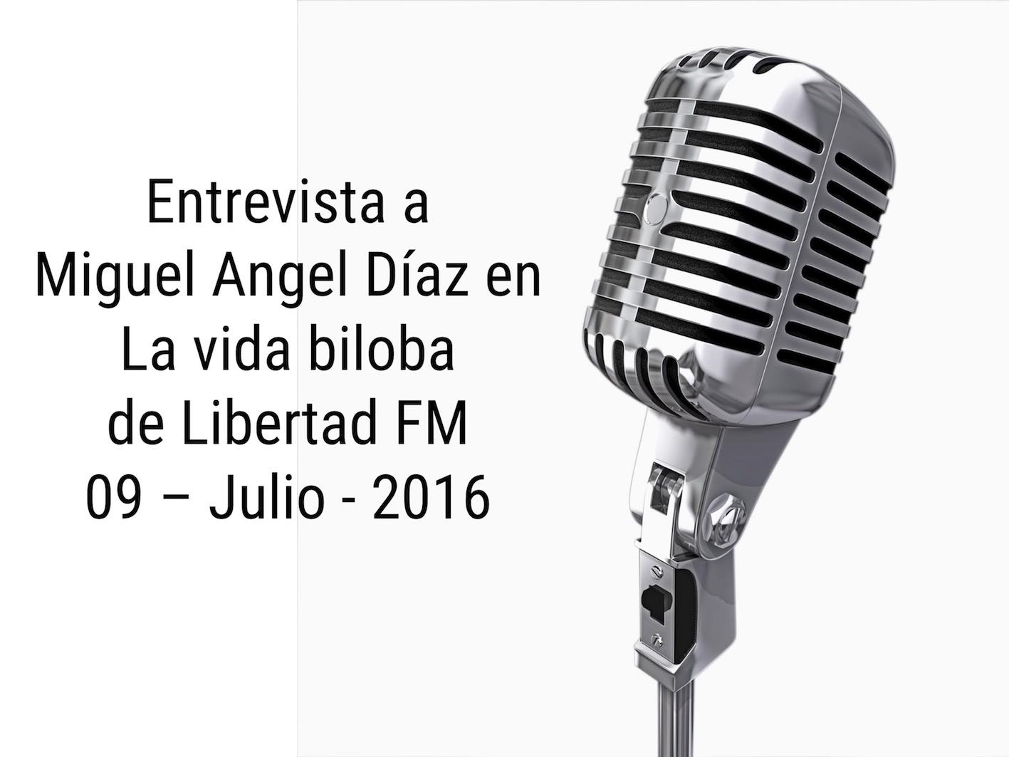 Entrevista en La vida biloba a Miguel Angel Diaz